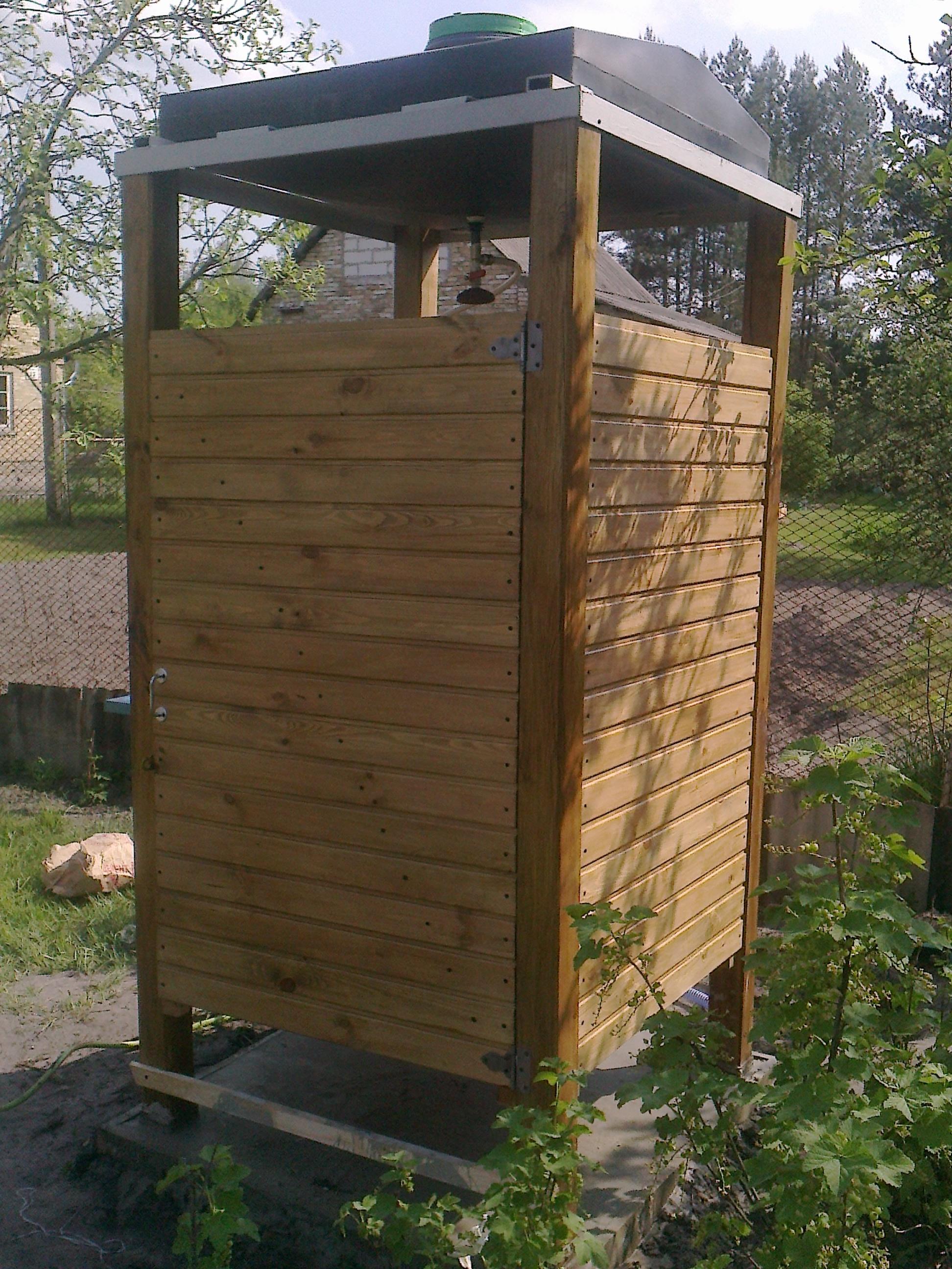 Как построить деревянный душ на даче своими руками поэтапно